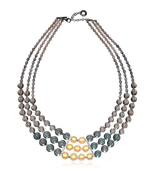 Antica Murrina - Gray Atelier Nuance - Grey & Amber Murano Glass Choker - Lyst