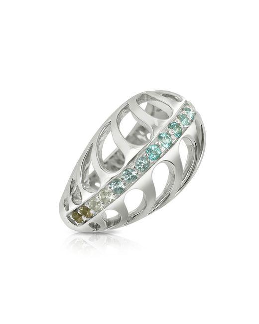 Sho London - Metallic Sterling Silver Mari Rush Ring - Lyst