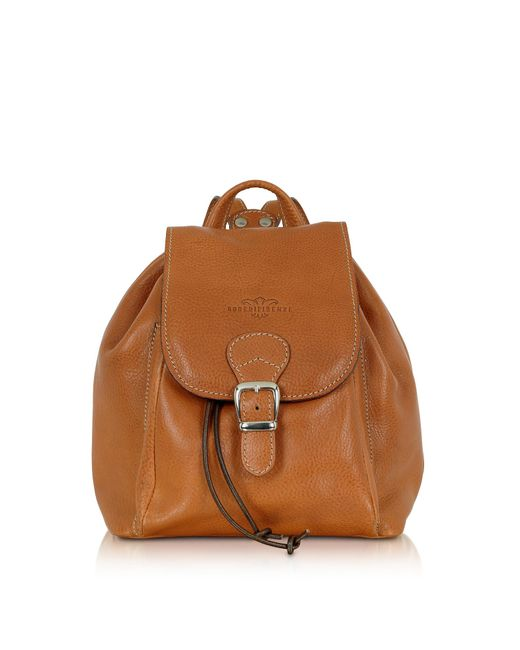 Robe Di Firenze - Brown Sac à dos en cuir camel - Lyst