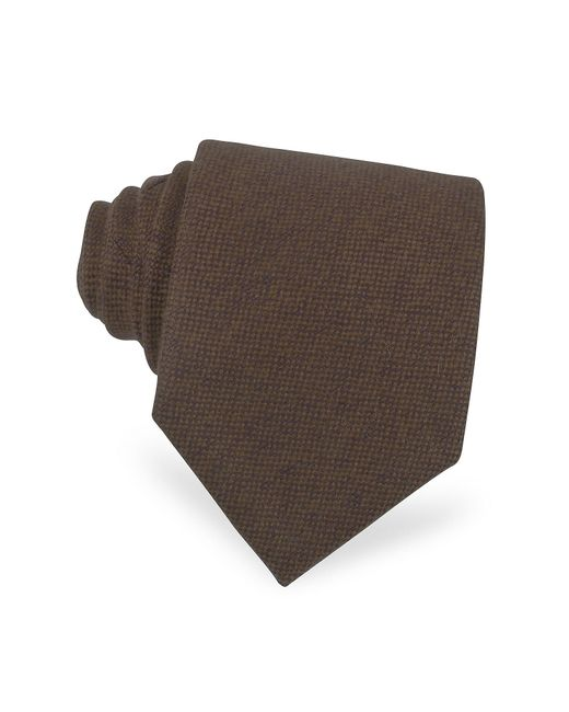 FORZIERI | Solid Brown Cashmere Extra-long Tie for Men | Lyst