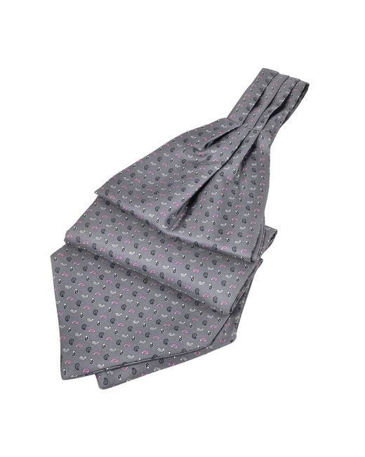 FORZIERI | Gray Micro Paisley Print Silk Ascot for Men | Lyst