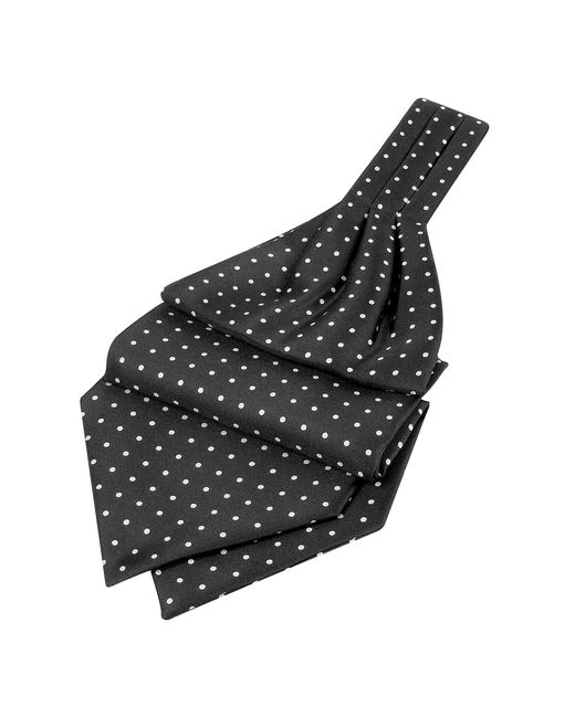 FORZIERI | Black Polkadot Printed Twill Silk Ascot for Men | Lyst