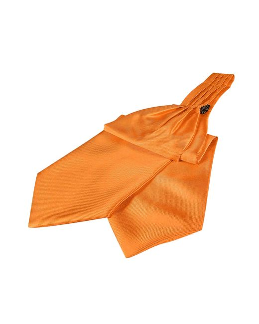 FORZIERI | Orange Solid Color Pure Silk Ascot for Men | Lyst