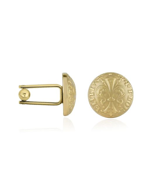 FORZIERI | Metallic Fleur-De-Lis Gold-Plated Cufflinks for Men | Lyst