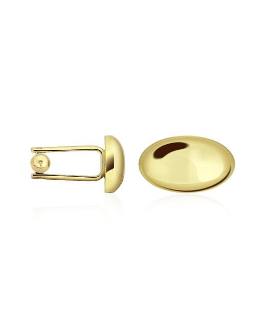 FORZIERI   Metallic Oval Gold Plated Classic Cufflinks for Men   Lyst