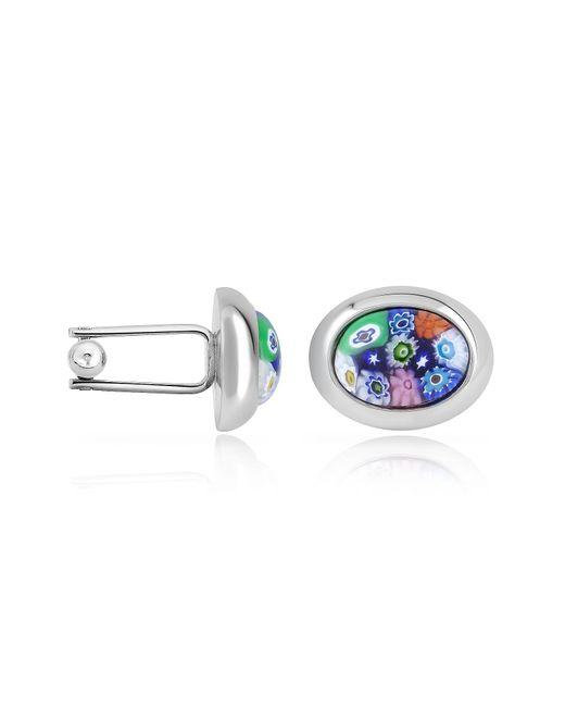 FORZIERI | Metallic Millefiori Murano Glass Oval Cuff Links for Men | Lyst