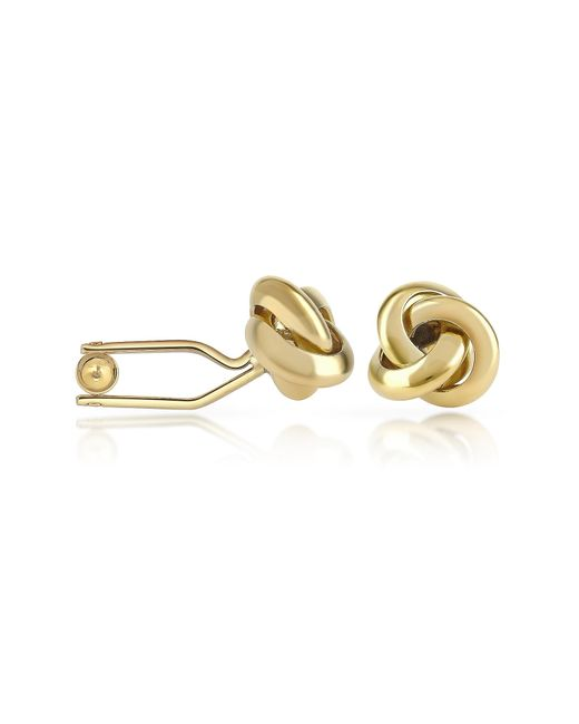 FORZIERI | Metallic Knot Gold Plated Cuff Links for Men | Lyst