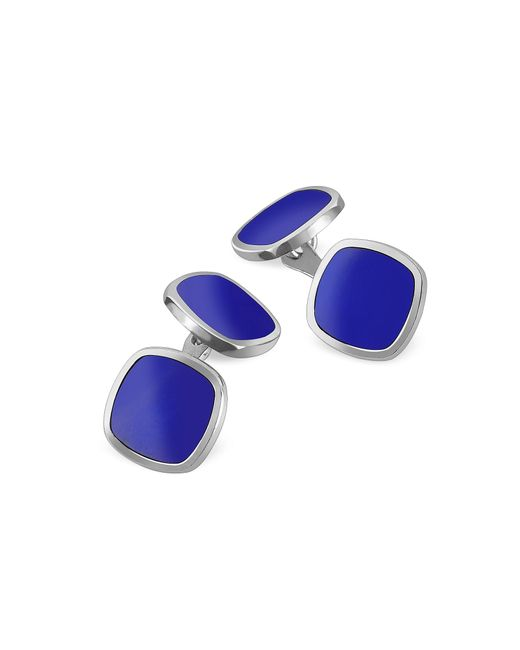 FORZIERI   Metallic Blue Square Sterling Silver Double Sided Cufflinks for Men   Lyst