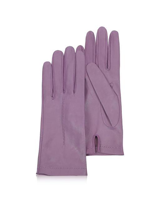 FORZIERI | Women's Purple Unlined Italian Leather Gloves | Lyst