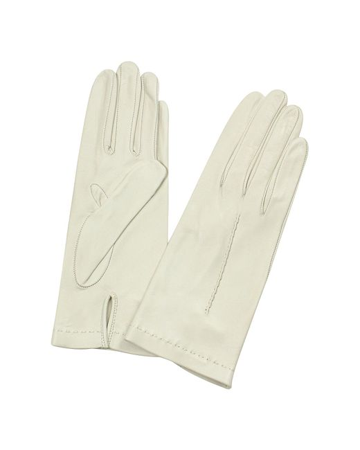 FORZIERI | White Women's Ivory Unlined Italian Leather Gloves | Lyst