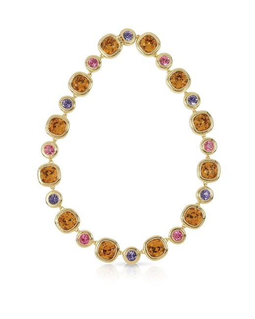 FORZIERI | Purple, Pink And Orcher Crystals Necklace | Lyst
