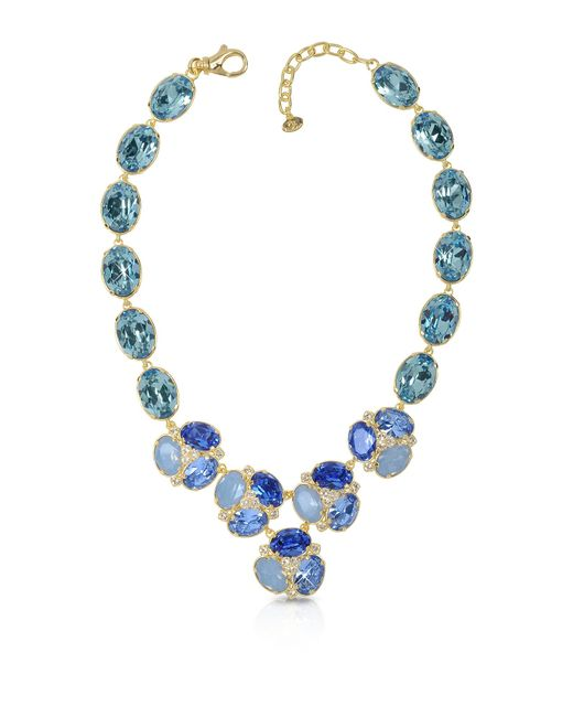 FORZIERI | Blue Crystal Necklace | Lyst
