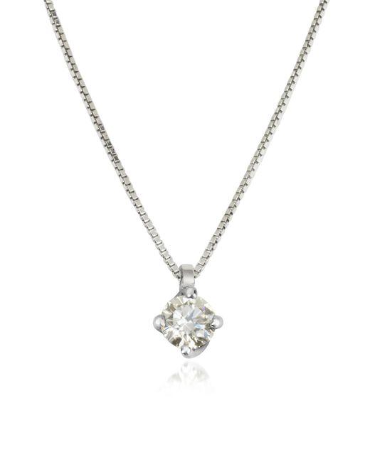 Forzieri | 0.23 Ctw Diamond Flower Pendant 18k White Gold Necklace | Lyst