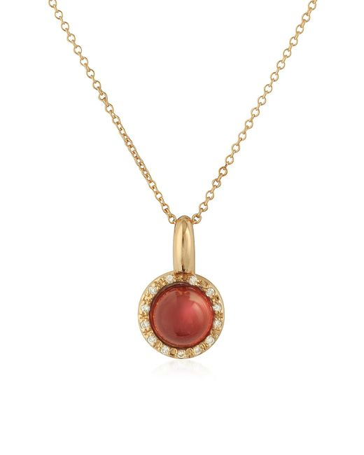 Mia & Beverly | Pink Garnet And Diamond 18k Rose Gold Charm Necklace | Lyst