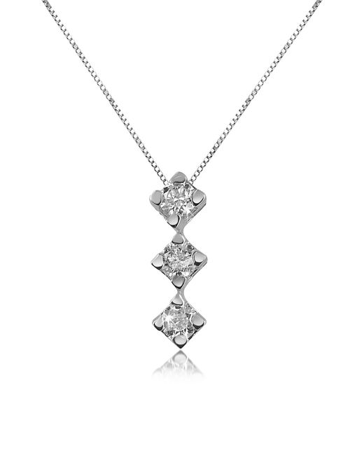 FORZIERI | Metallic 0.12 Ct Diamond Drop 18k Gold Necklace | Lyst