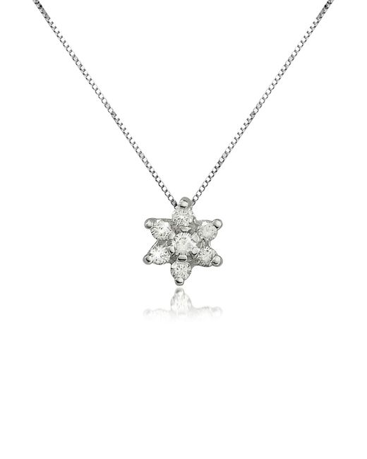 FORZIERI | Metallic 0.11 Ct Diamond Flower 18k Gold Pendant Necklace | Lyst