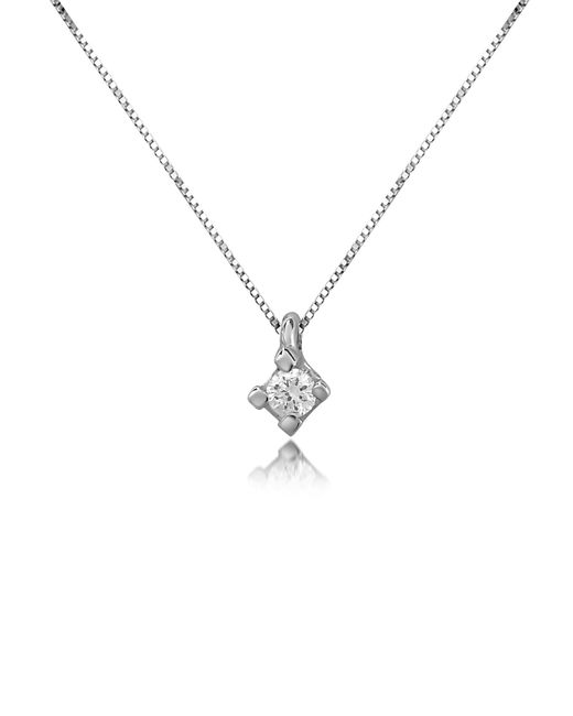 FORZIERI | Metallic 0.03 Ct Diamond Solitaire Pendant 18k Gold Necklace | Lyst