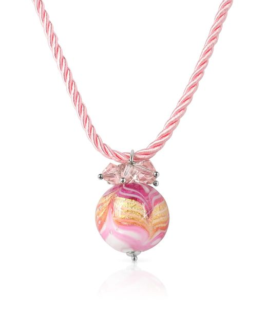 House of Murano | Mare - Pink Murano Glass Ball Pendant Necklace | Lyst
