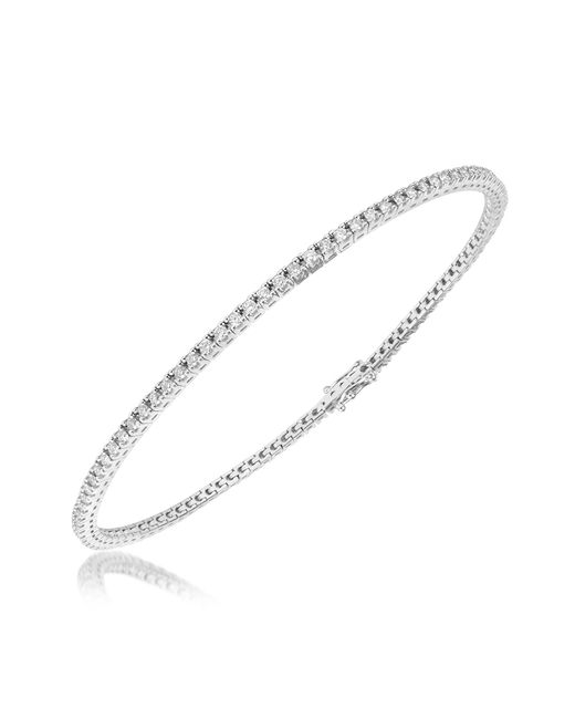 FORZIERI | 1.05 Ctw White Diamond Eternity 18k Gold Tennis Bracelet | Lyst
