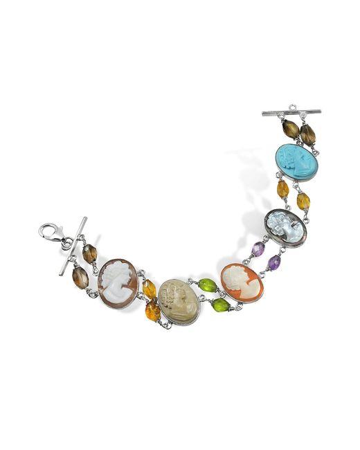 Mia & Beverly | Multicolor Cameo Bracelet | Lyst