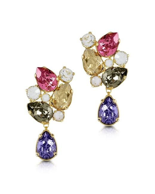 FORZIERI | Multicolor Crystal Earrings | Lyst