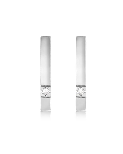 FORZIERI | White 0.02 Ctw Diamond Bar Earrings | Lyst