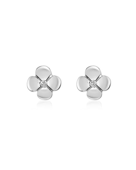 FORZIERI | Metallic 0.055 Ct Diamond Flower 18k Gold Earrings | Lyst
