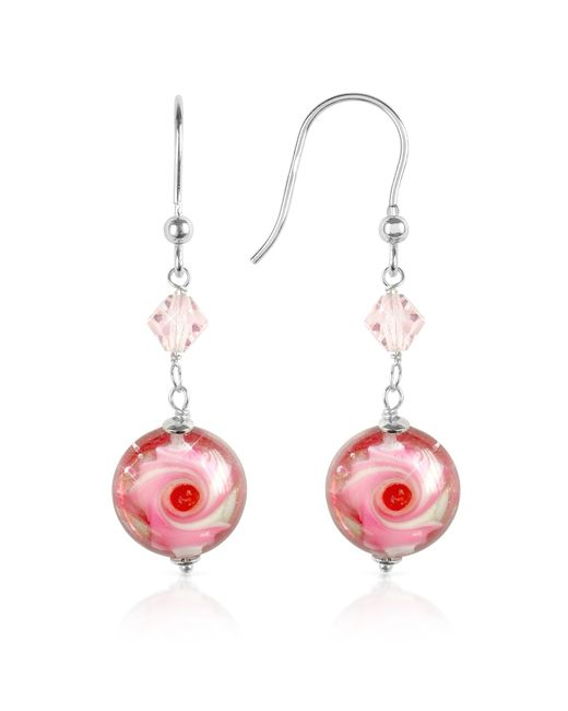 House of Murano   Vortice - Pink Swirling Murano Glass Bead Earrings   Lyst