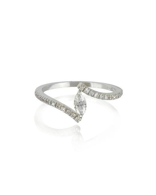 Forzieri | White Gold Eye Shaped Diamond Ring | Lyst