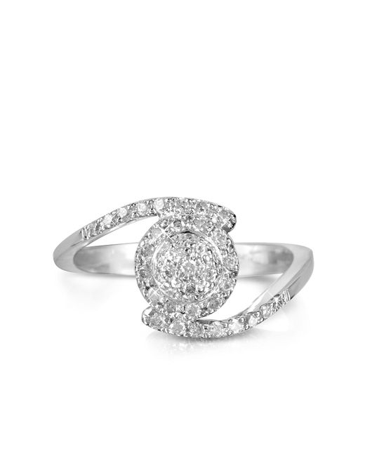FORZIERI | 0,35 Ctw Diamond Pave 18k White Gold Ring | Lyst