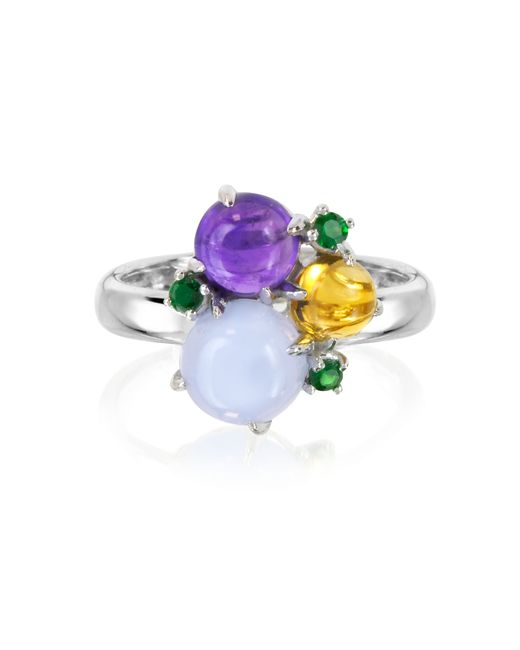 Mia & Beverly - Blue Gemstones 18k White Gold Ring - Lyst