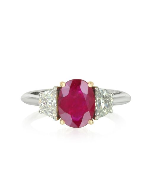 Forzieri   Red Ruby And Diamond Gold Ring   Lyst