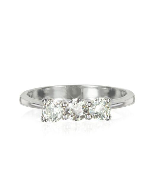 Forzieri | 0.63 Ctw Diamond 18k White Gold Trilogy Vanity Ring | Lyst