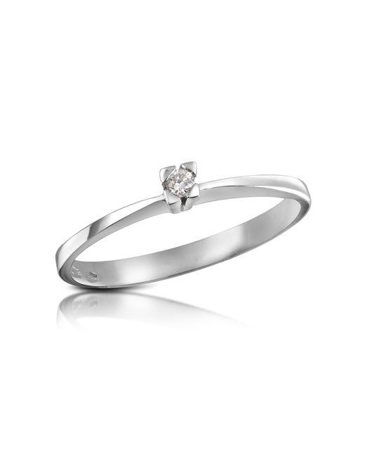 FORZIERI | Metallic 0.03 Ctw Diamond Solitaire Ring | Lyst