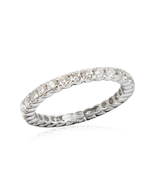 FORZIERI | 1.20 Ctw Diamond 18k White Gold Eternity Band | Lyst