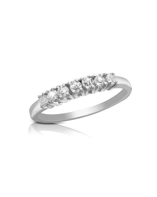 FORZIERI | Metallic 0.24 Ct Diamond 18k Gold Band Ring | Lyst