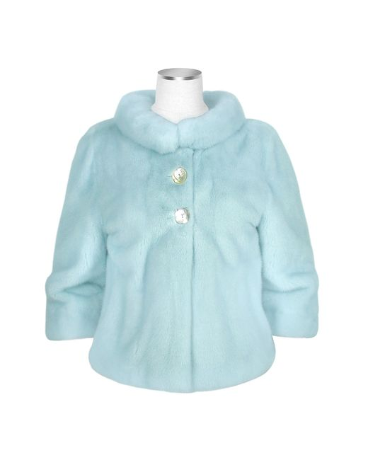 FORZIERI | Ultimate Luxury Collection Light Blue Mink Fur Two-button Jacket | Lyst