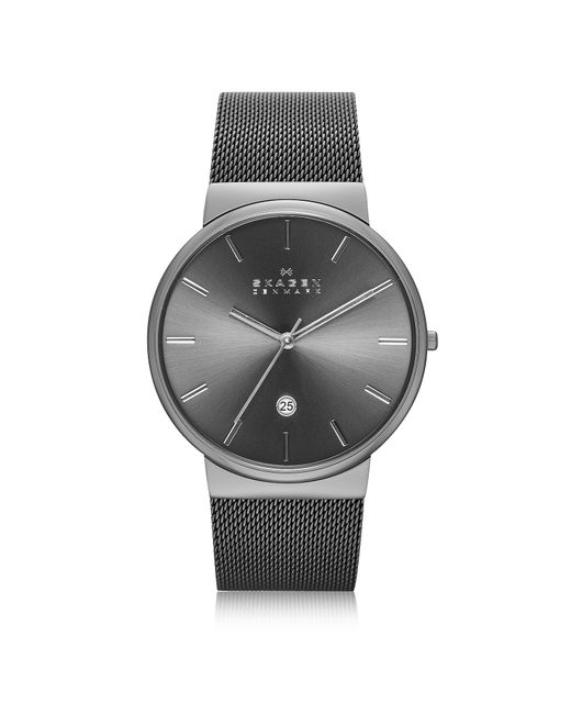 Skagen - Ancher Black Stainless Steel Case Men's Watch W/mesh Strap for Men - Lyst