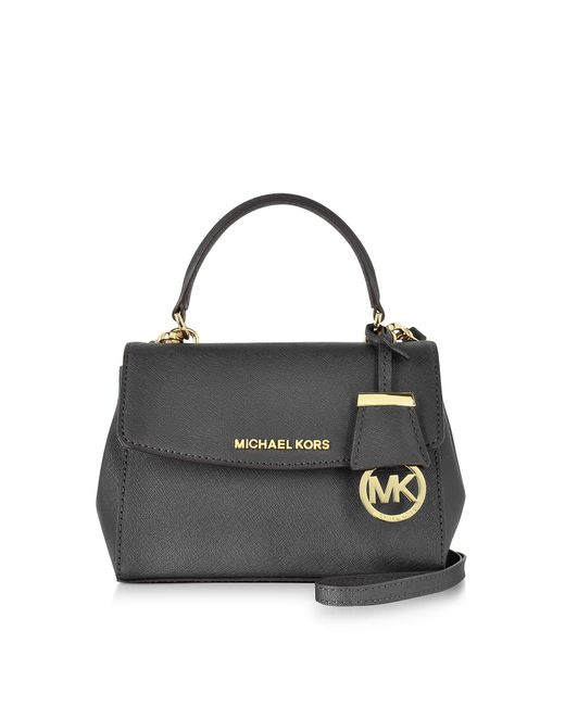 Michael Kors   Ava Black Saffiano Leather Xs Crossbody Bag   Lyst