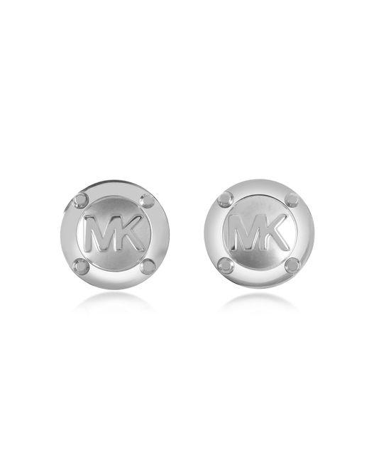Michael Kors | Metallic Heritage Mk Logo Stud Earrings | Lyst
