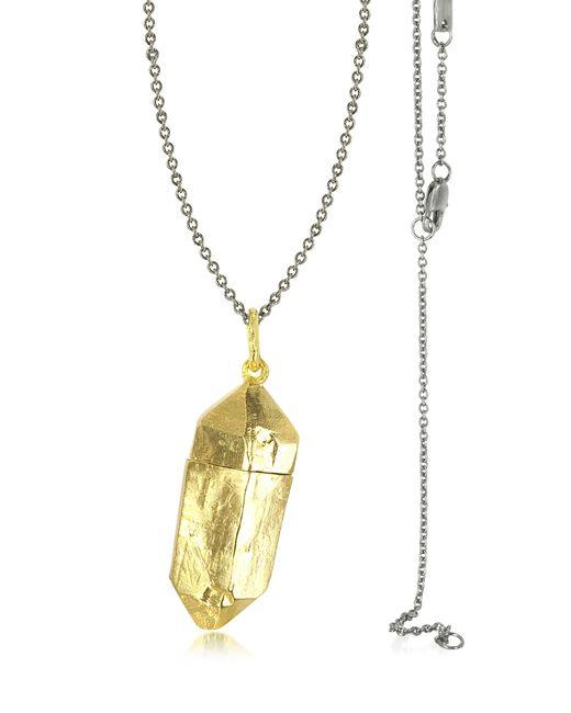 Bjorg | Metallic Magic Hour - Rock Box Golden Charm Necklace | Lyst