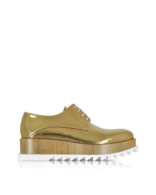 Jil Sander | Multicolor Bronze Leather Platform Oxford Shoe | Lyst