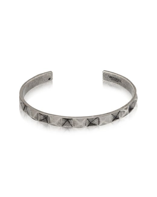 Northskull | Metallic In 'n' Out Aged 925 Silver Plated Brass Cuff | Lyst