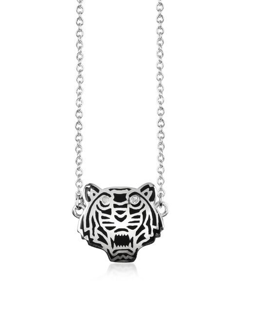 KENZO | Metallic Sterling Silver Solid Mini Tiger Necklace | Lyst