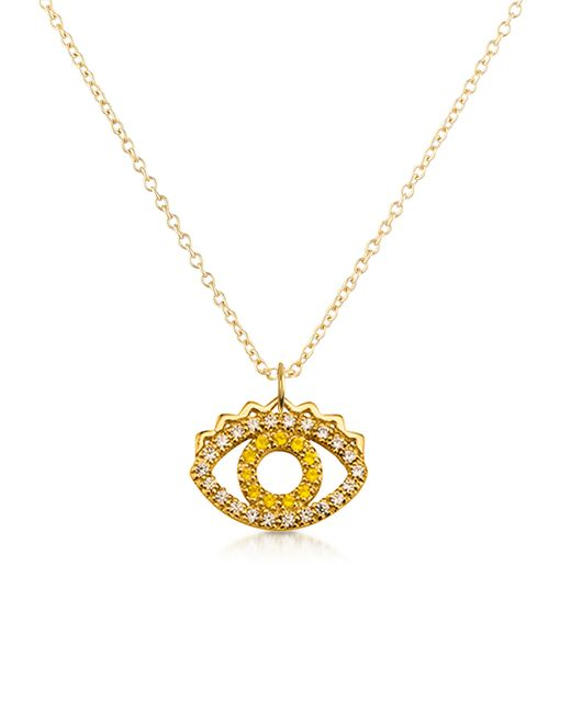 KENZO | Multicolor Golden Sterling Silver Mini Eye Necklace | Lyst
