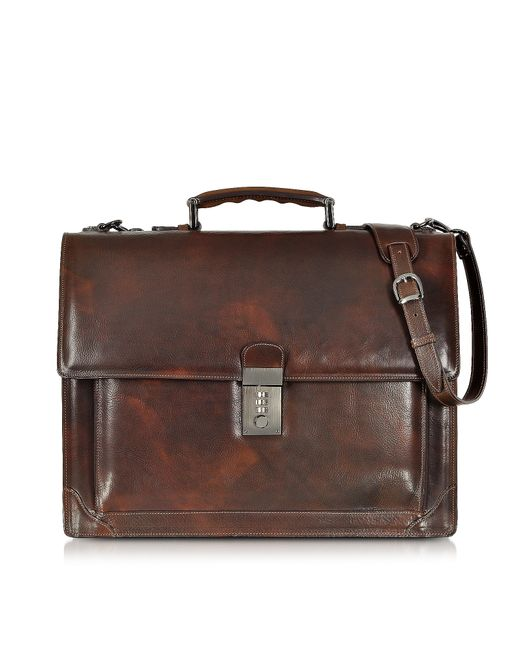 L.A.P.A. - Brown Cristoforo Colombo Collection Leather Briefcase for Men - Lyst