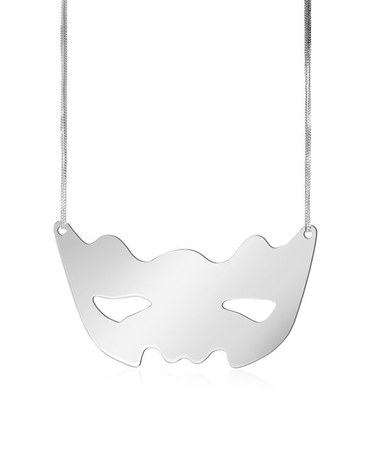MM6 by Maison Martin Margiela - Metallic Mirror Mask Necklace - Lyst