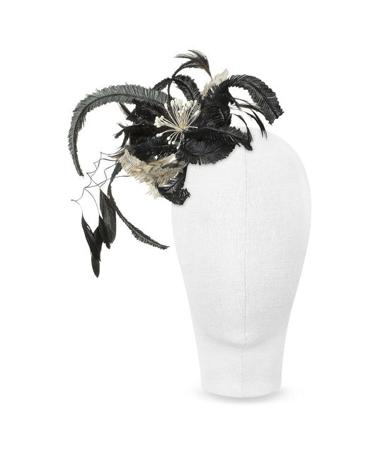Nana' - Cilla - Black And White Flower Comb - Lyst
