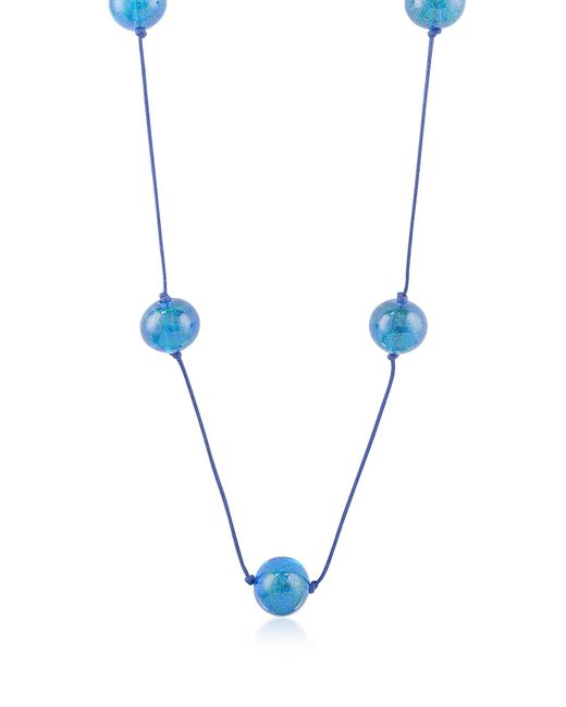 Naoto | Blue Glass Bead Long Necklace | Lyst