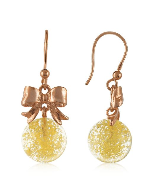 Naoto | Yellow Round Drop Earrings | Lyst